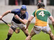 Darren Maher in action against Sean Gardiner of Offaly