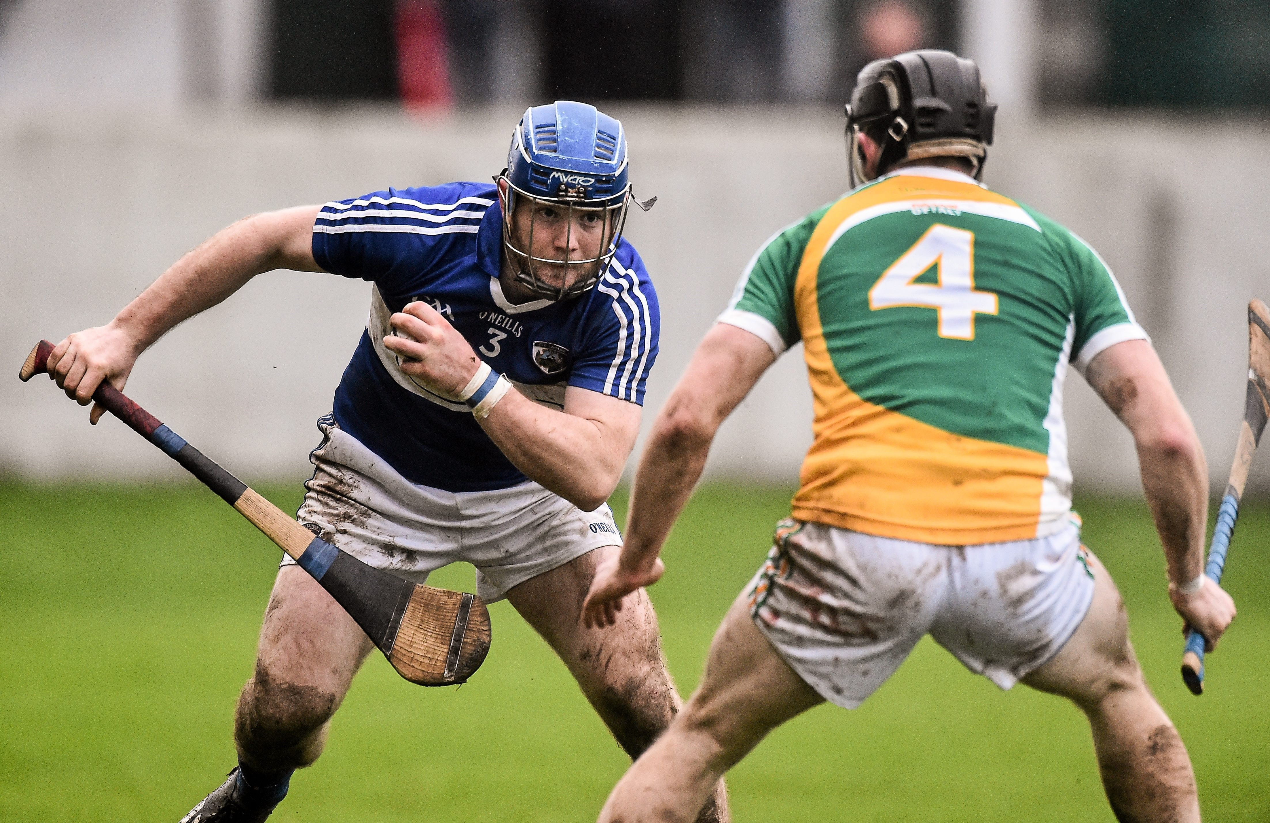 Darren Maher in action against Sean Gardiner of Offaly
