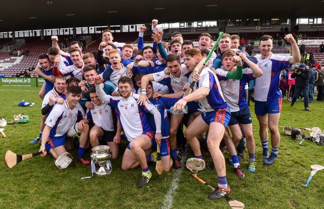 Mary Immaculate College celebrate after winning the Fitzgibbon Cup
