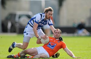 Ciaran McKeever in action against Billy Sheehan