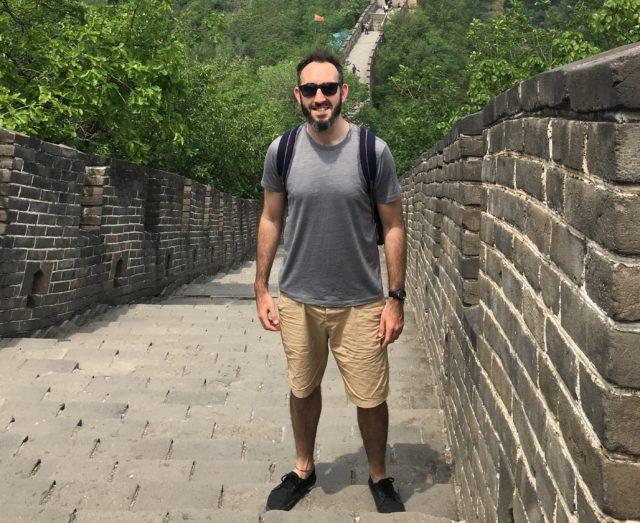 Daragh Meredith at the Great Wall of China