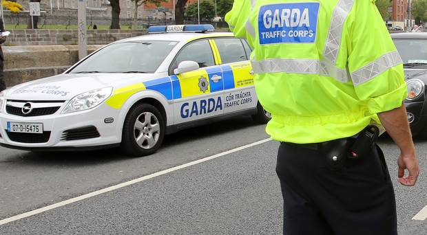 Gardaí are on the scene in Stradbally