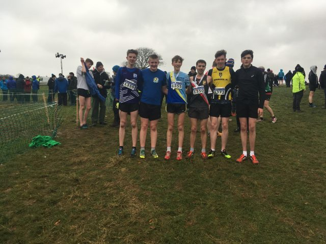 Cathal Connaughton, Eddie Allen, Liam Butler, Colin Grenna, Cian McDonald and Adam Holden celebrate with their medals