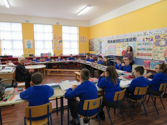 3rd, 4th, 5th and 6th class are all in the one classroom in The Swan NS