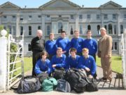 Some of the final boarders all packed up at Knockbeg College on the last day pictured with Fr. MIchael Murphy and Principal Mr. Cyril Hughes. From left, back: Philip Cantwell, Wexford; Andrew O'Regan, Waterford; Pádraig Doyle, Wexford and Liam Gahan, Wexford. Front: Seán Daly, Crettyard; Jonathan Fitzpatrick, Kilkenny; Mark Holt, Wicklow and James Griffin, Tullow. Picture: Alf Harvey.