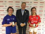 Molly O'Connor, left, with her winners medal after the All-Ireland U-17 handball final yesterday