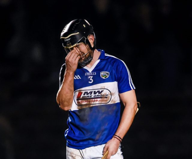 Very tough day for Cahir Healy and the rest of the injury hit Laois side in Galway