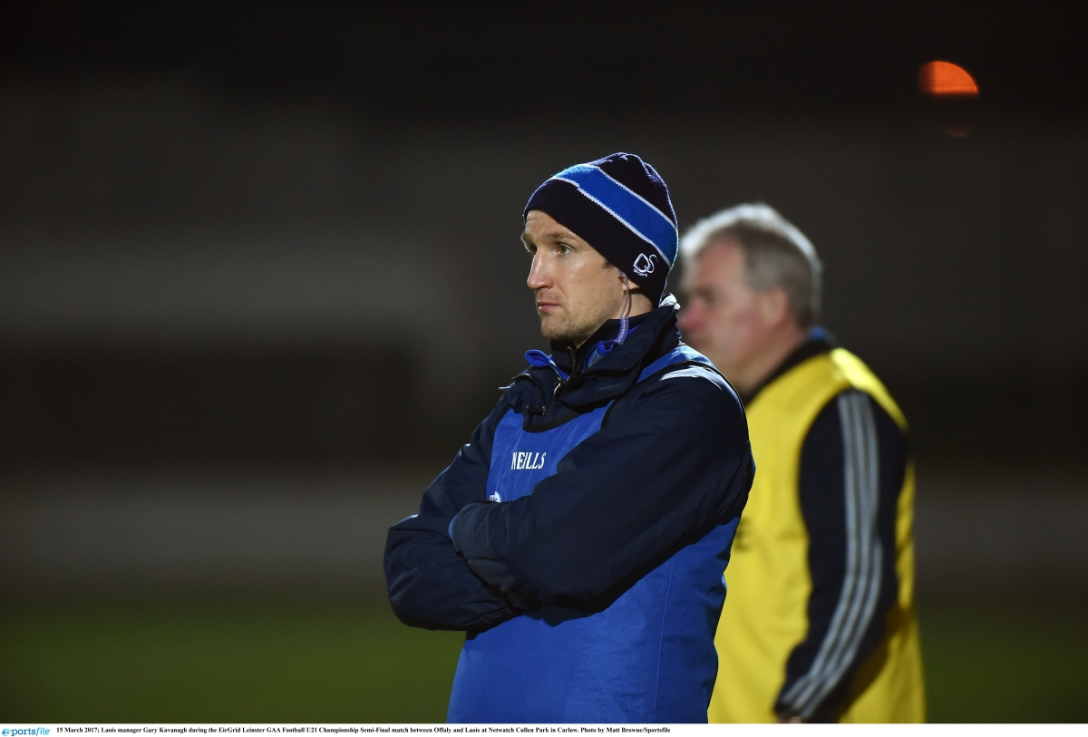 Laois U-21 football manager Gary Kavanagh
