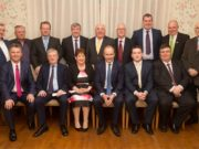 Fianna Fail party members in Laois with Michael Martin