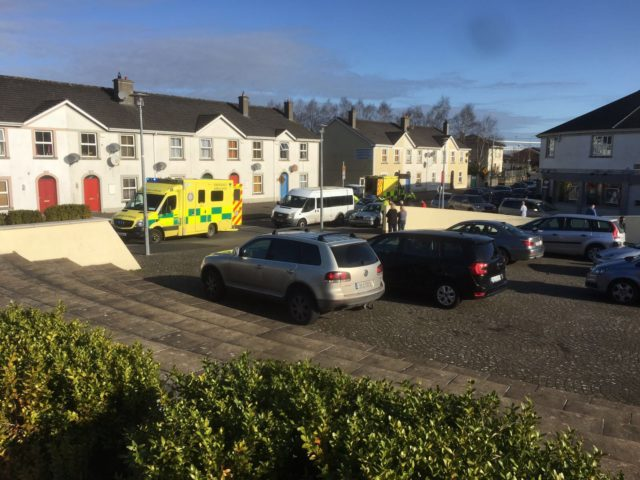 Ambulances on the scene in Portlaoise this morning