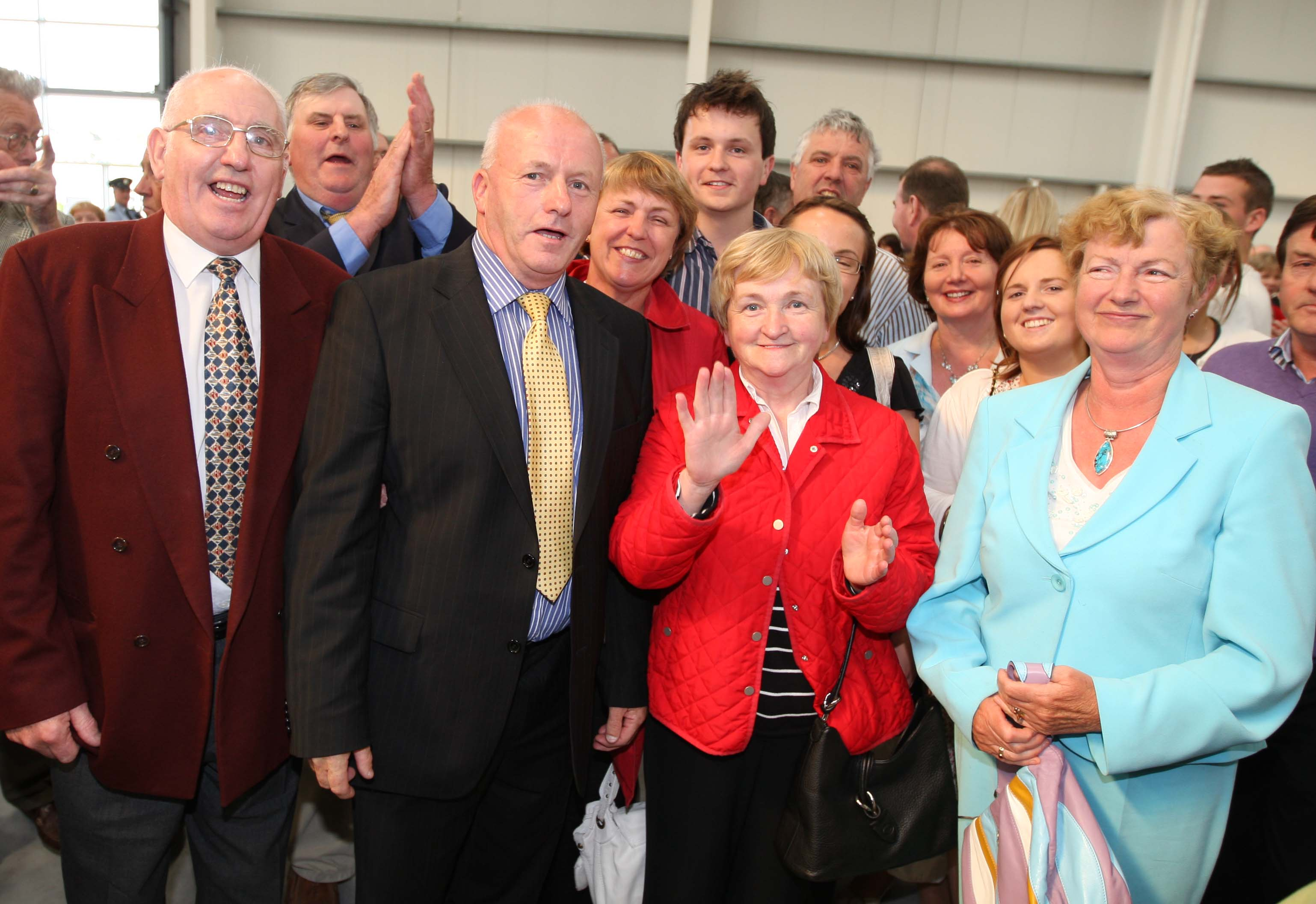 Tom Mulhall with friends and family at the 2009 Local Election count