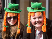 Dressed up at the Portlaoise St. Patrick's Day parade in 2016. We're expecting more colourful scenes around the county tomorrow Picture: Alf Harvey/HRPhoto.ie
