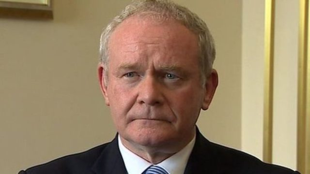 Martin McGuinness has passed away this morning after a short illness