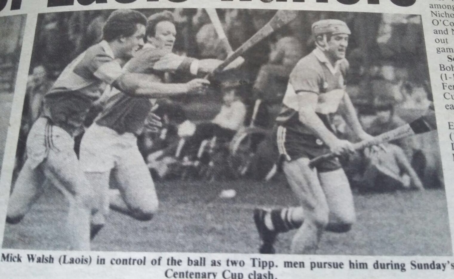 Michael Walsh gets the better of Nicky English and co