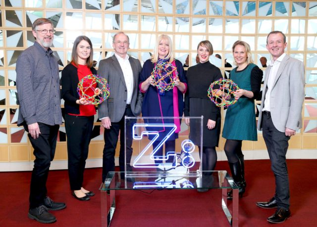 Michael Caney, PTC; Aisling Boland, BMS; David Ryan, Jet.com; Mary Mitchell O'Connor TD, Minister for Jobs, Enterprise and Innovation; Jackie Slattery, Director of Career Zoo; Laura Zapala, Qualtrics and Mark Fitzgibbon, Amgen
