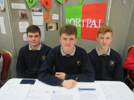 Jake McLoughlin, Anthony Murphy and Oisin O'Dea of Portpal from Colaiste Iosagain Portarlington
