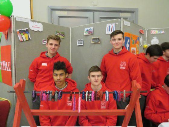 Donal Hetherington, David Dobbyn, Evan Pender and Jordan McDermott of Paracord from Colaiste Iosagain Portarlington