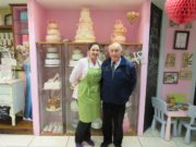 Kelly Ging with her grandfather Joe Ging in her coffee shop and bakery in the Kealew Business Park in Portlaoise