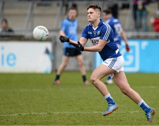 Portarlington's Patrick O'Sullivan is wing-back on the Laois U-21 football team that is taking on Offaly tonight