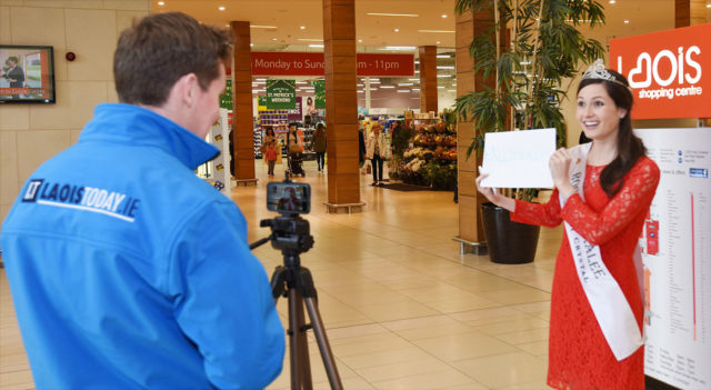 International Rose of Tralee Maggie McEldowney is interviewed for LaoisToday.ie ©Kevin Byrne Photography
