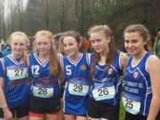 The Scoil Chriost Ri minor team of Kate Corcoran, Ava Prendergast, Ava Punch, Grainne Cotter and Ava O'Connor that claimed bronze in the All Ireland schools cross country in Antrim on Saturday
