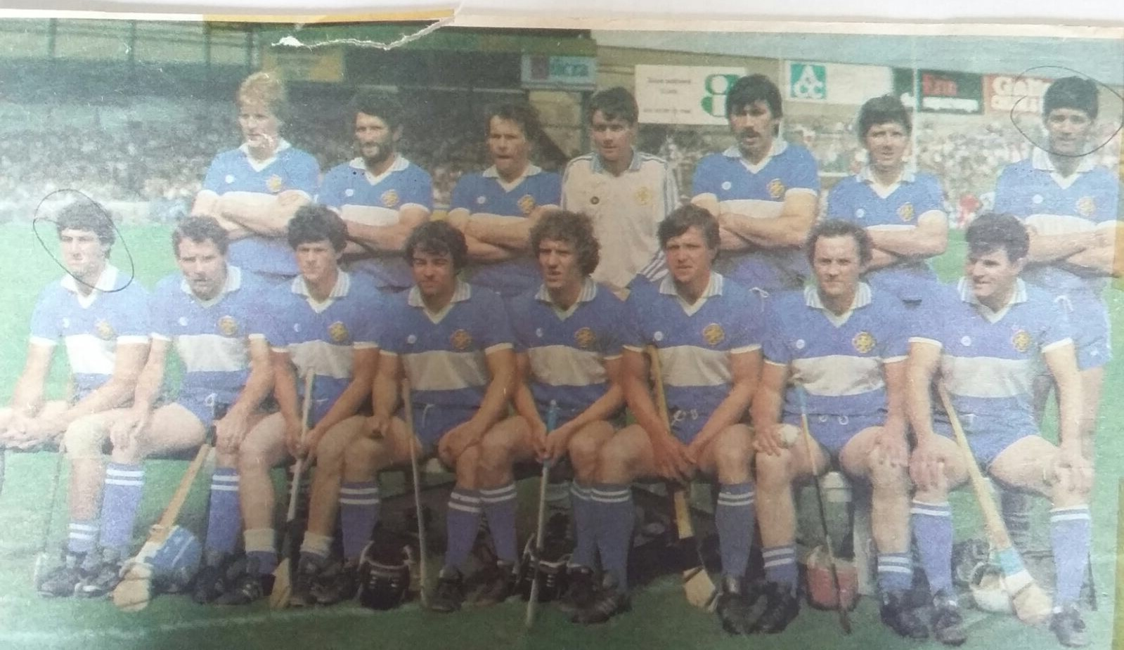 Walsh and the Laois team who played Cork in the Centenary Final in 1984