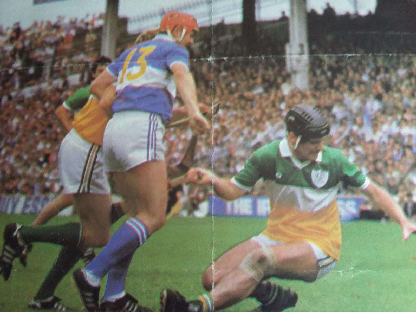 Walsh in action against Aidan Fogorty of Offaly in 1985