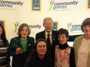 Gillie Walsh Kemmis with her gold medallion in Athlone yesterday at the Community Games Awards