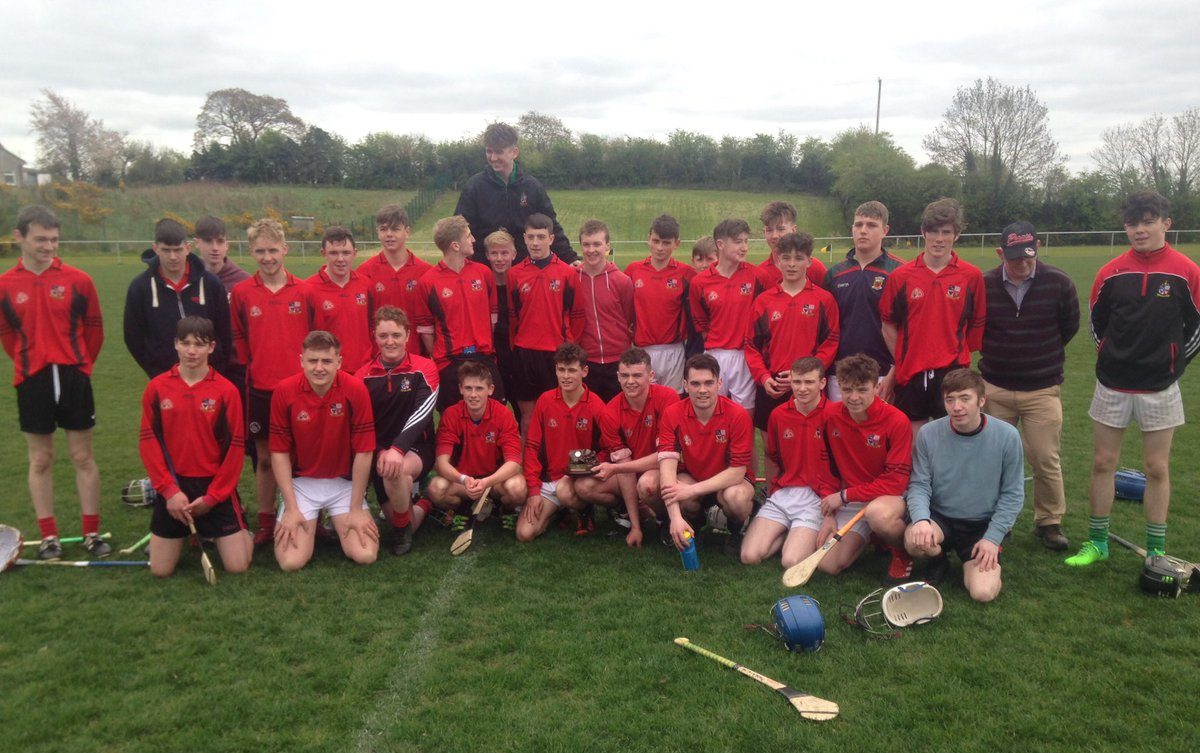The Clonaslee Vocational School team who won the Leinster final today