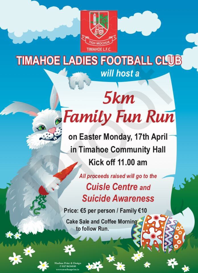 Timahoe Ladies will have a fun run on this Monday