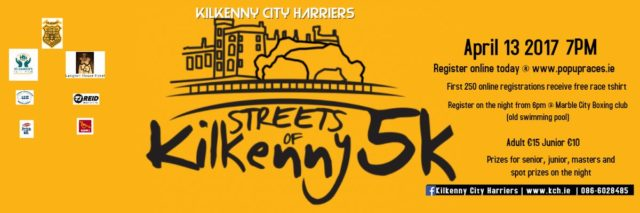 Streets of Kilkenny 5k will take place on Thursday