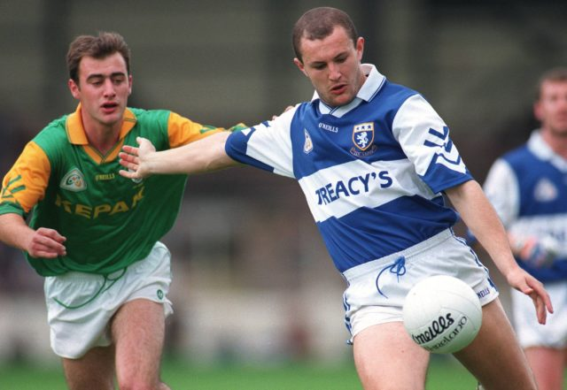 Hughie Emerson in action against Paddy Reynolds of Meath in 1997