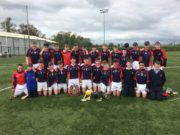 The victorious North Leinster team pictured with the cup