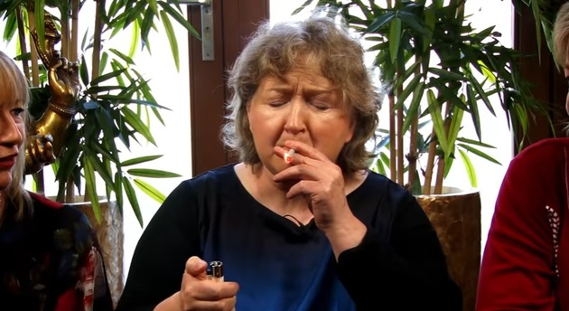 Laois mammy Una takes a puff of some funny stuff in Amsterdam on The Facts Youtube video