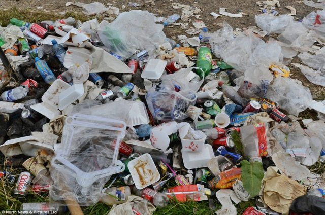 Parts of Portarlington are destroyed with rubbish it has been claimed