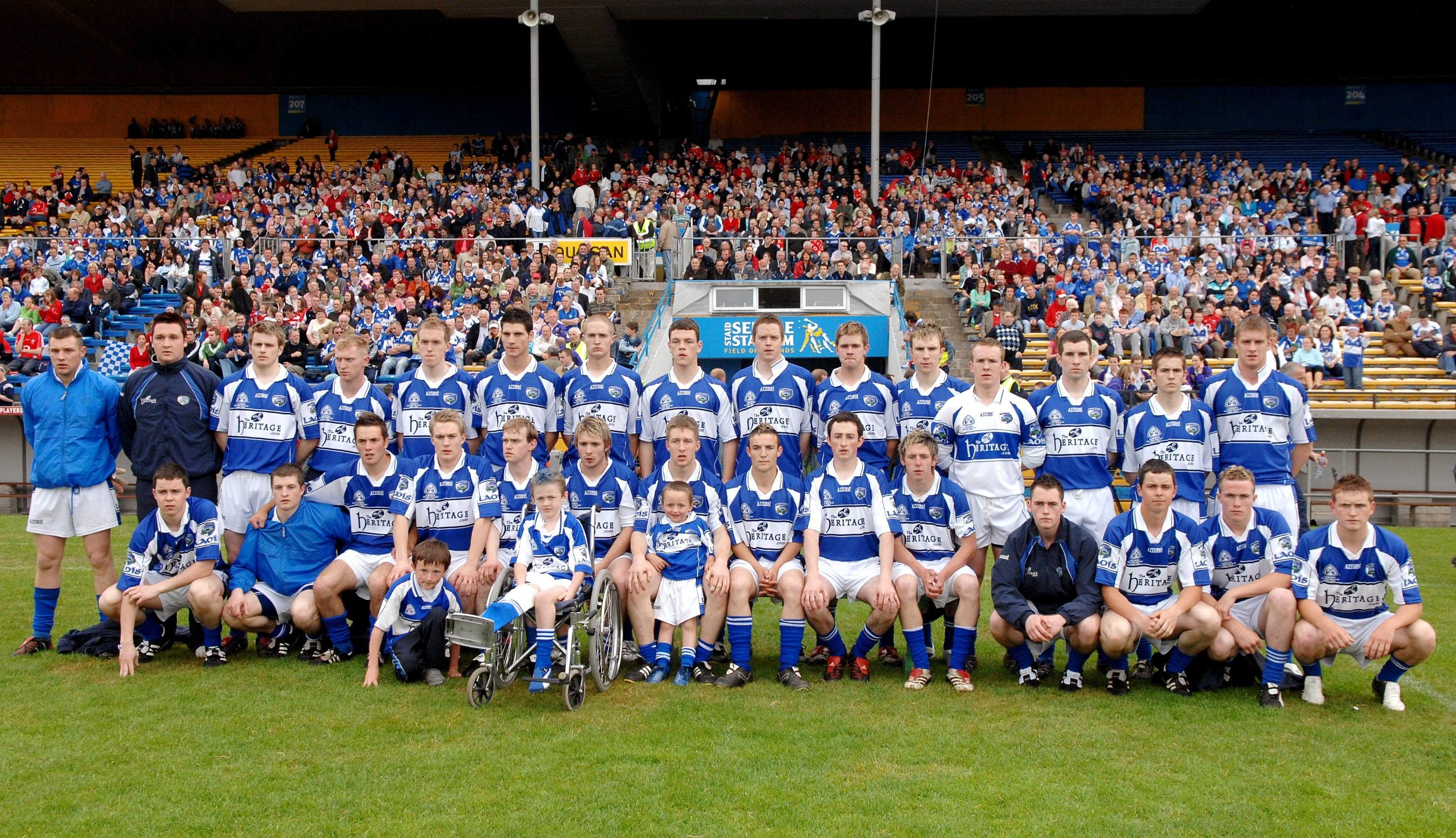 The Laois Under 21 squad before the Cadbury All-Ireland U21 Football Final against Cork