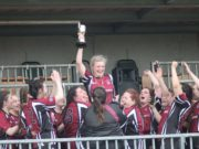 Tara Buggie celebrates as NUIG are crowned All-Ireland champions under her captaincy