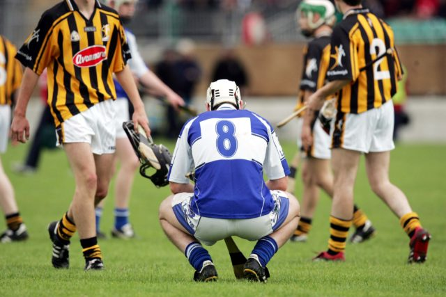 John O'Loughlin ponders after Laois lost to Kilkenny in the Leinster MHC semi-final at Dr. Cullen Park in 2007