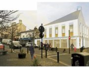 The proposed new library in Portlaoise on the site of the old Shaw's building