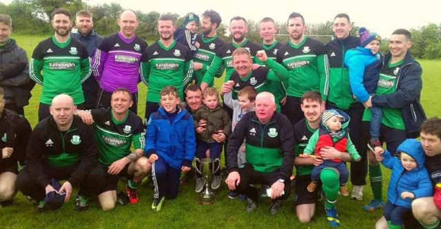 The Portlaoise Shamrocks team who won the CCFL Division 1 Cup final on Sunday