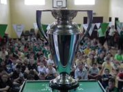 The Women's Rugby World Cup trophy in Killeen NS last week