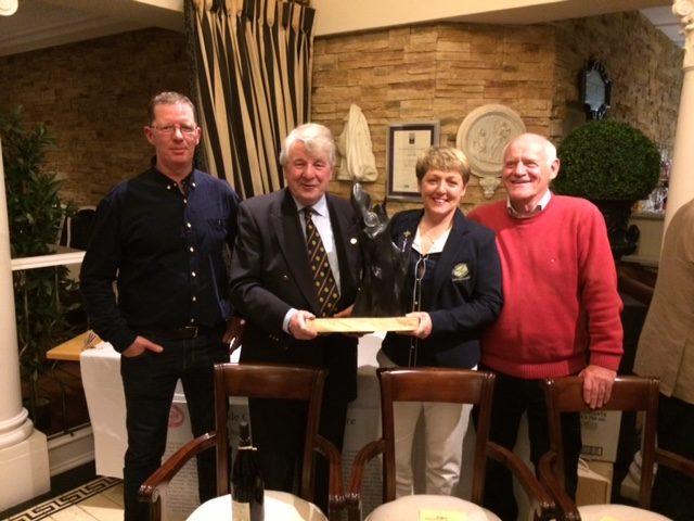 Cuisle Golf Classic Flame Trophy winners John Duffy, Mick Geraghty, Anna Byrne & Damian Turley