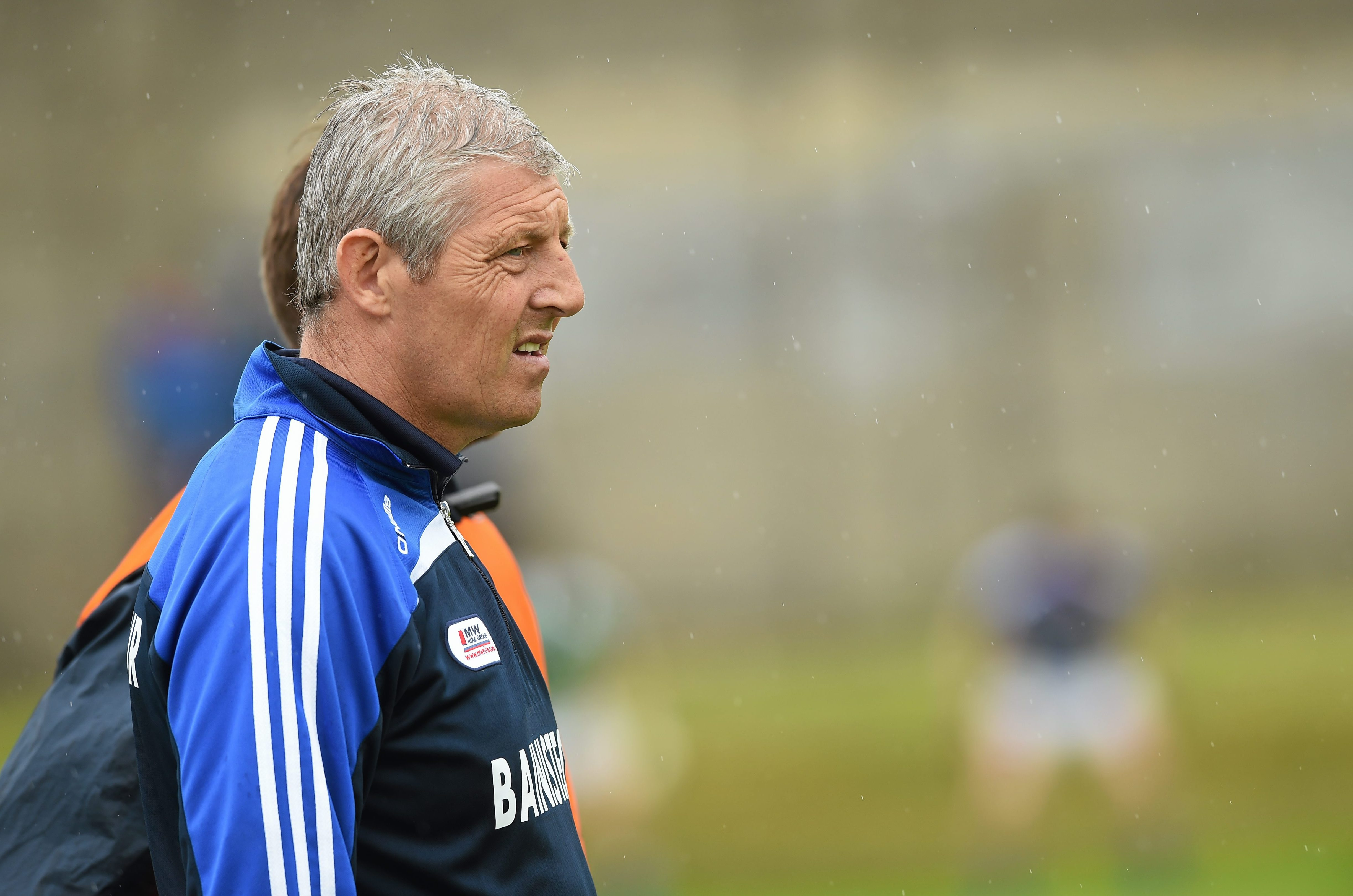 Laois manager Tomas O'Flaharta against Wicklow in 2014 in Aughrim