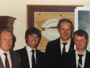 The late Georgie Leahy pictured with Ollie Bynre, Seán Ramsbottom and Michael Carroll