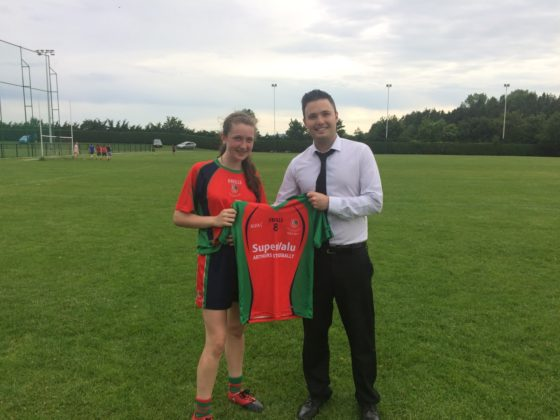 SuperValu Stradbally also sponsored a very special jersey for the girls