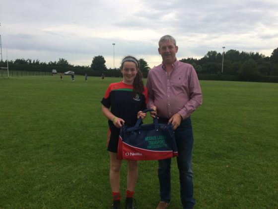 Seamus Larkin Transport sponsored bags for the girls