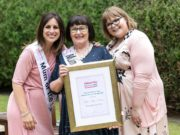 Esther Kelly-Keating, the 2017 Woman's Way and Beko Mum of the Year, with Lucy Kennedy and daughter Charlotte