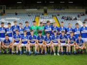 The Laois U-17 team who played Dublin in O Moore Park tonight