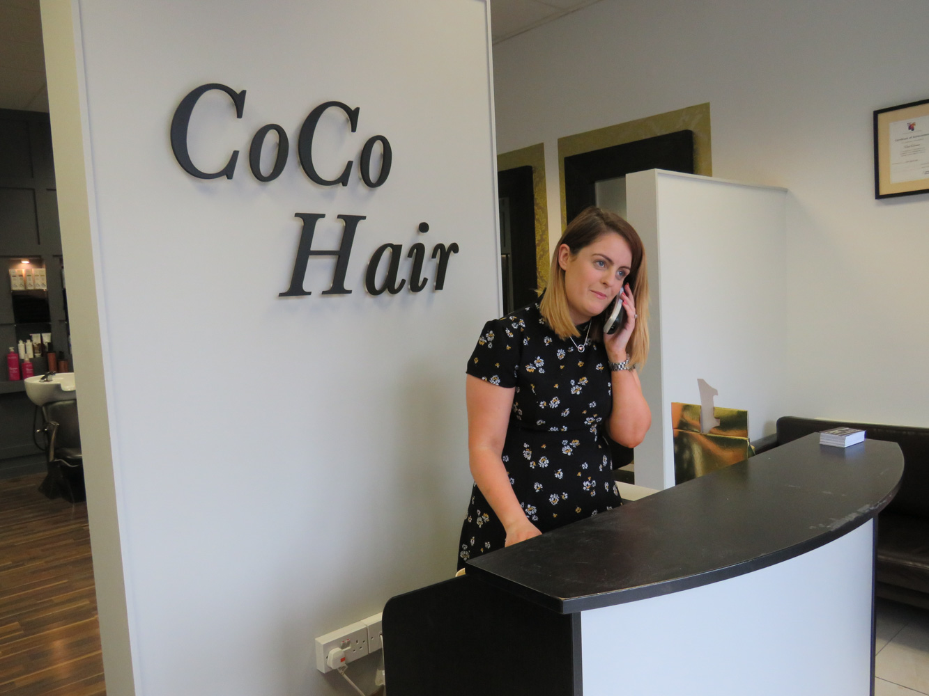 Coco 39 s hair salon celebrates six years with a brand new for A new look salon