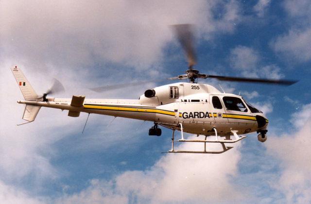 The Garda helicopter was in Stradbally last night